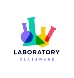 laboratory glassware logo icon vector image