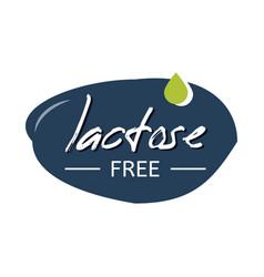 Lactose free handwritten sign vector