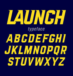 Launch font modern bold industrial style typeface vector