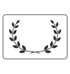 Laurel wreath icon border 14 vector