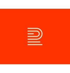 Line letter f logotype Abstract moving airy logo vector