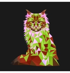 Low poly cat Triangle polygonal stile siamese vector image