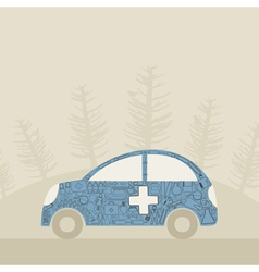 Medical car vector image