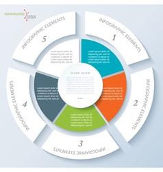 Modern template for business presentation vector
