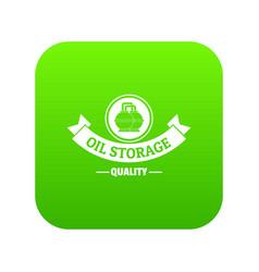 oil storage icon green vector image