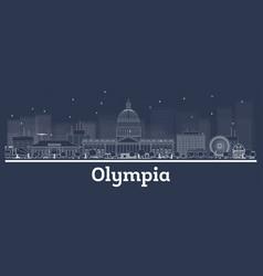 Outline olympia washington city skyline with vector