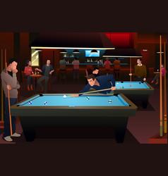 people playing billiard vector image