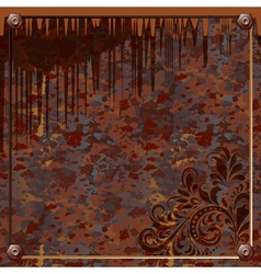 plate of rusty metal vector image