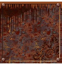 Plate of rusty metal vector