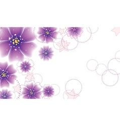 Purple flowers design vector
