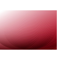 red curve abstract background with wave halftone vector image