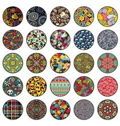 Round design elements vector image