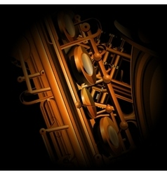 saxophone and trumpet close up parts vector image