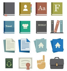 School Work Icons vector