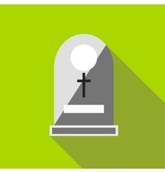 Sepulchral monument icon flat style vector