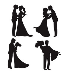 Set of silhouettes set of silhouettes vector