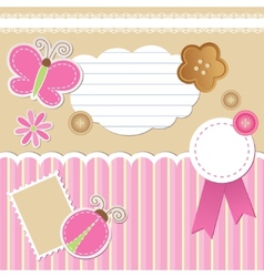 Set scrapbook elements vector