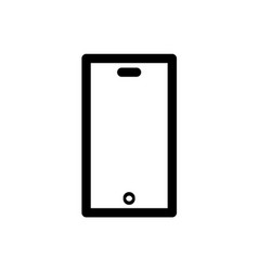 simple line of cell phone icon vector image