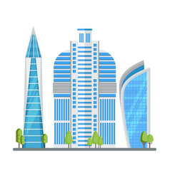 skyscraper in modern city vector image