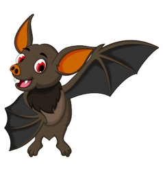 Smiling bat cartoon posing vector