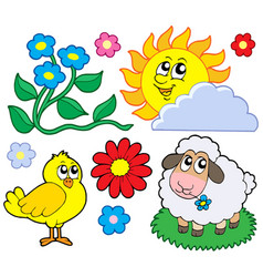 spring collection 1 vector image