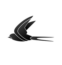 styled swallow silhouette vector image