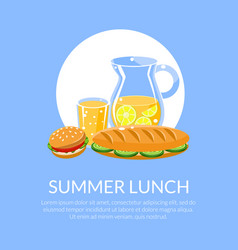summer lunch banner template with place for text vector image