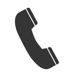 telephone handset call icon graphic vector image