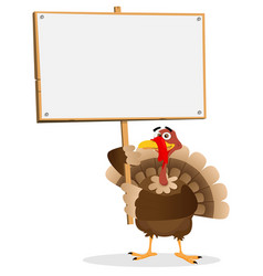 thanksgiving turkey sign vector image