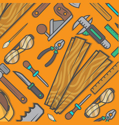 Woodworking tool set background vector