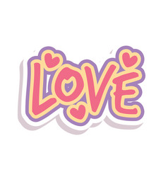 Word text love love image vector