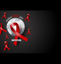 World aids day design vector