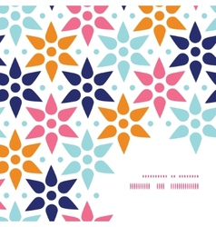 Abstract colorful stars frame corner vector