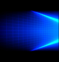abstract light blue with grid background vector image vector image