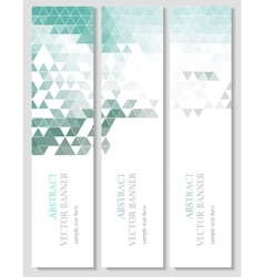 banners with abstract multicolored vector image vector image
