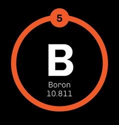 Boron chemical element vector