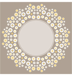 Color decorative flower background vector