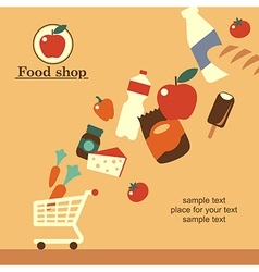 food shop background retro vector image vector image