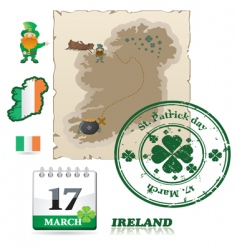Ireland icons vector image vector image