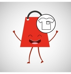 bag shopping concept tshirt commerce design vector image