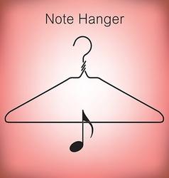 Coat Hanger Music vector image vector image