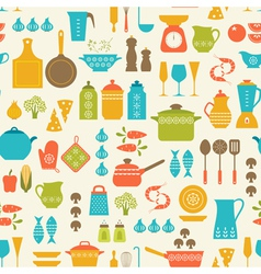 Cooking pattern vector image vector image
