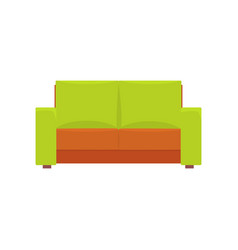 green modern sofa living room or office interior vector image vector image