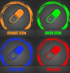 pill icon Fashionable modern style In the orange vector image vector image
