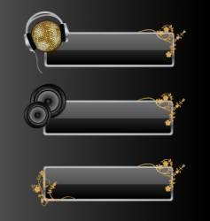audio style banners vector image