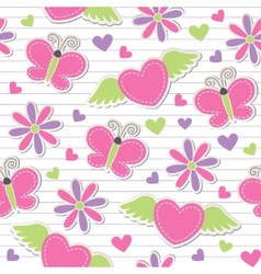 cute romantic seamless pattern vector image vector image