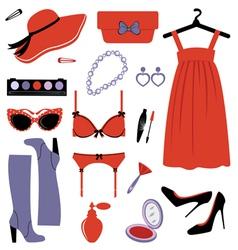 Fashion set elegance vector image vector image