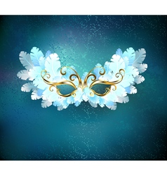 Mask of White Feathers vector image vector image