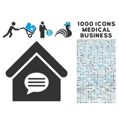 Realty Message Icon with 1000 Medical Business vector image
