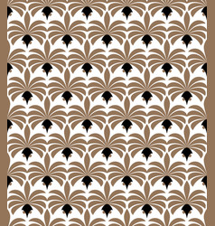 art deco seamless pattern geometric floral vector image